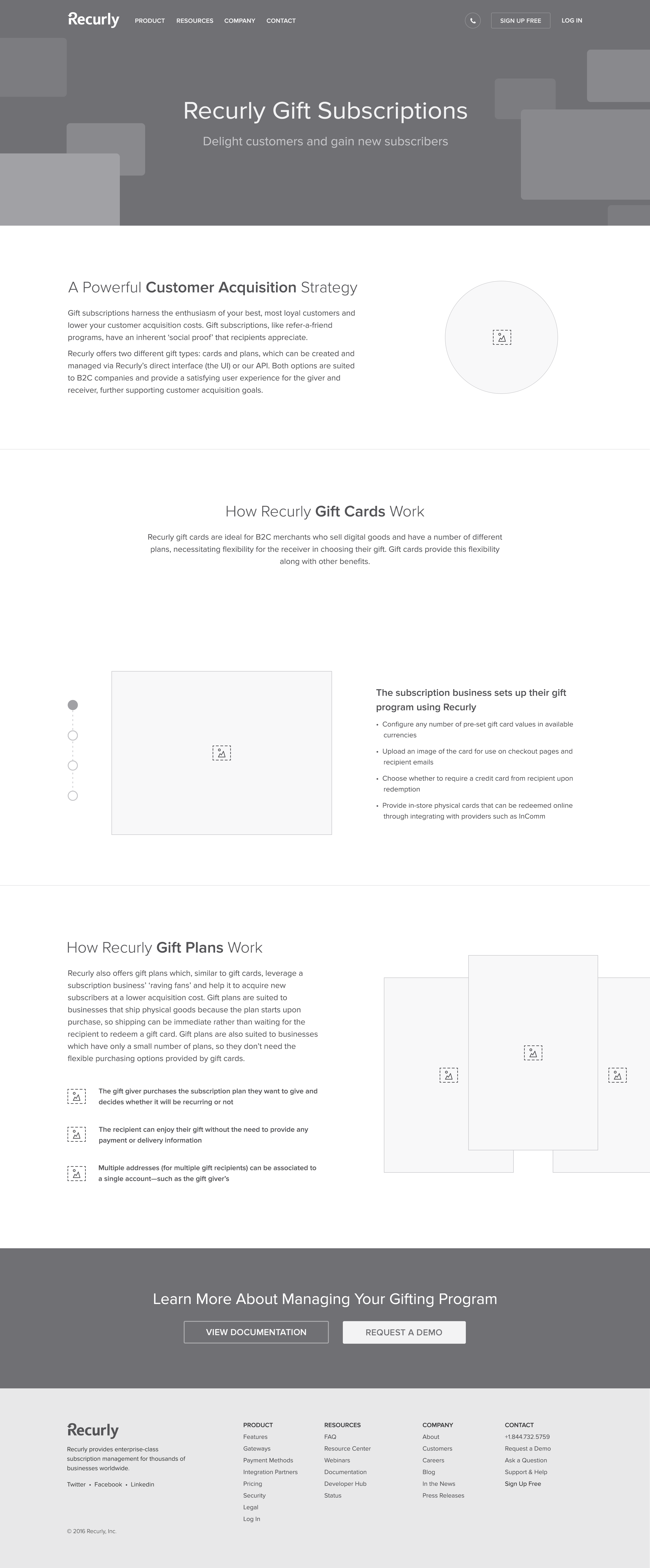 Recurly giftsubscriptions wireframes v1