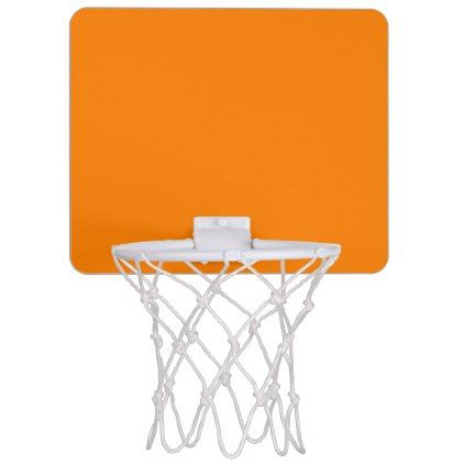 Orange template to personalized pictures and text mini basketball
