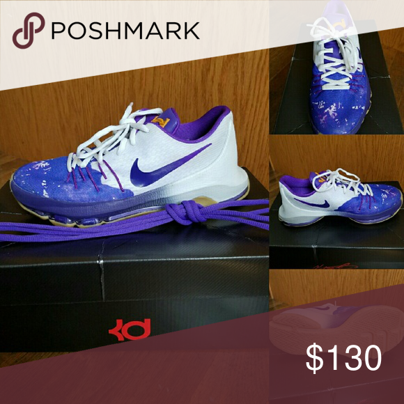 separation shoes 6c376 b0215 Nike KD 8 peanut butter   jellies White hyper grip purple gold. Only worn a  couple times. Nike Shoes Sneakers