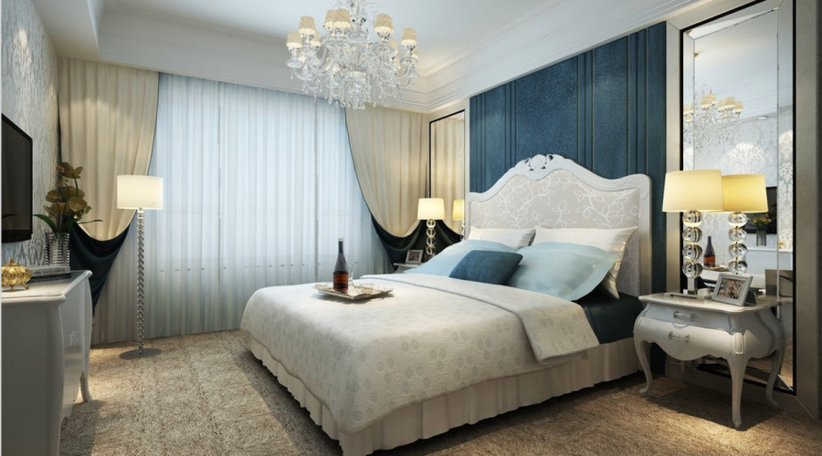 blue accent wall 1 bedroom design inspiration interior on unique contemporary bedroom design ideas for more inspiration id=44713