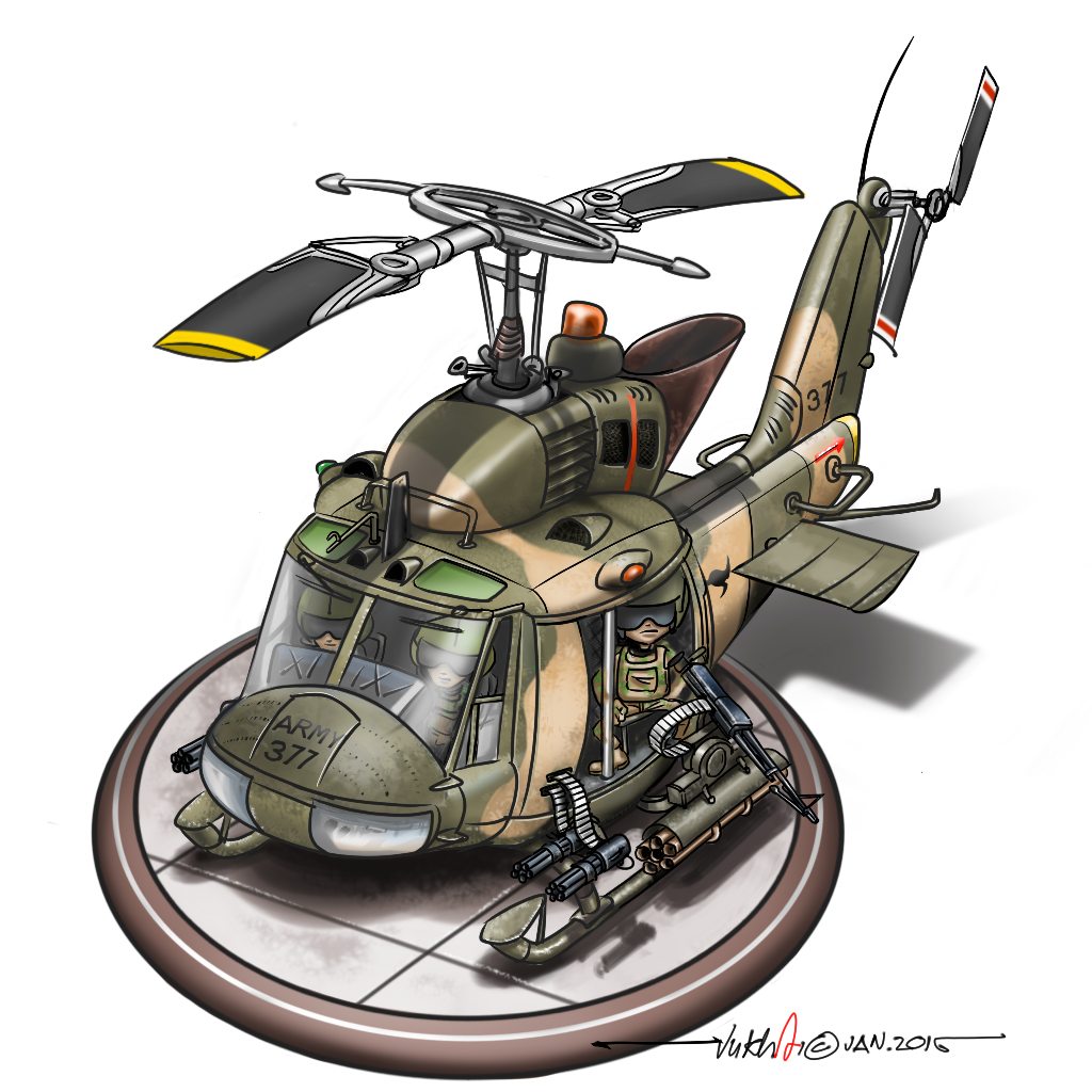 how to draw a military helicopter