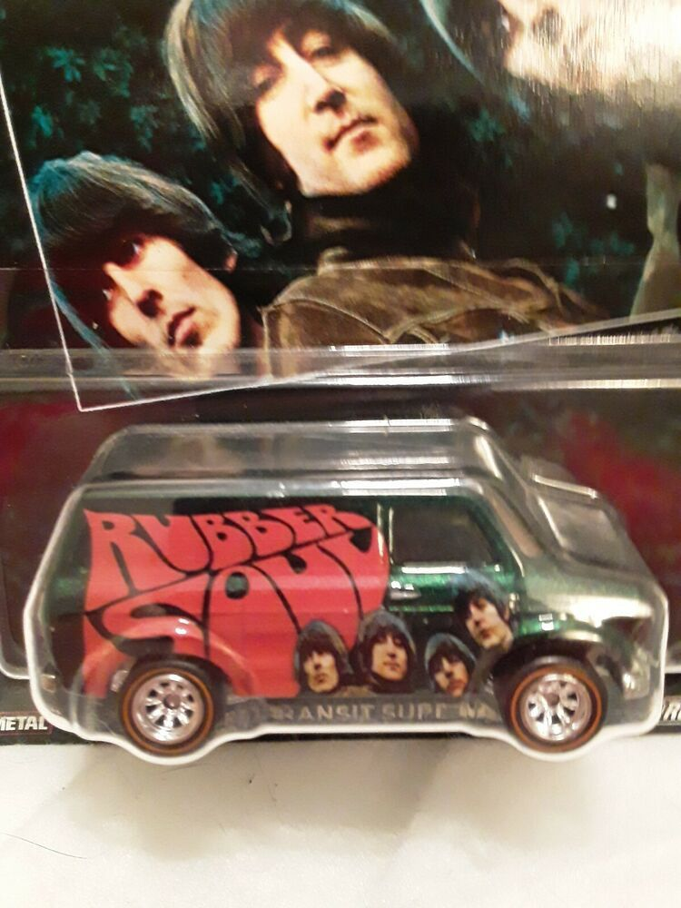 2016 Mattel Hot Wheels The Beatles Ford Transit Supervan Real Rider Tires Metal