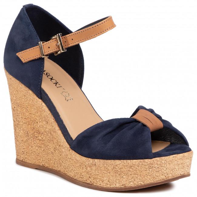 Sandaly Lasocki 2190 05 Cobalt Blue Koturny Klapki I Sandaly Damskie Eobuwie Pl Shoes Wedge Espadrille Blue