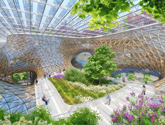 Wooden Orchids Reimagines The Shopping Mall As A Living Breathing Ecotopia With Images Eco Architecture Green Architecture Sustainable Architecture