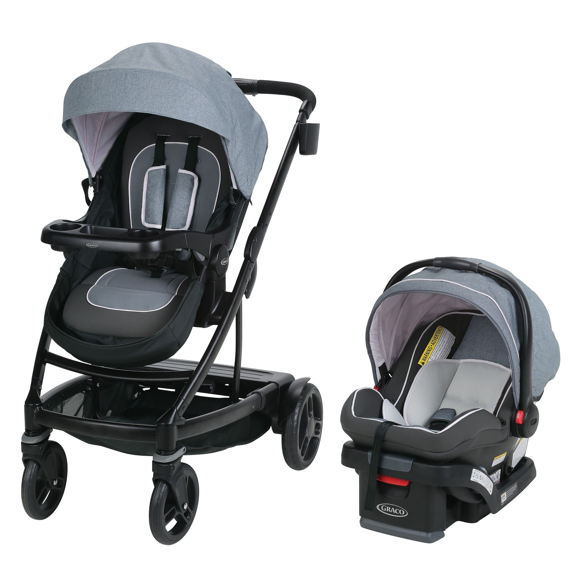 Graco Uno2Duo Travel System Hazel, Brown Travel system