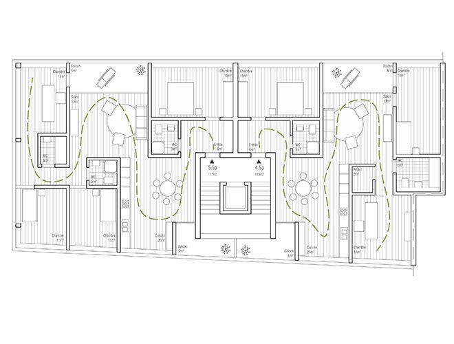 v u00e4ndningar och dagsljus i trappa via balkong  lvph architectes