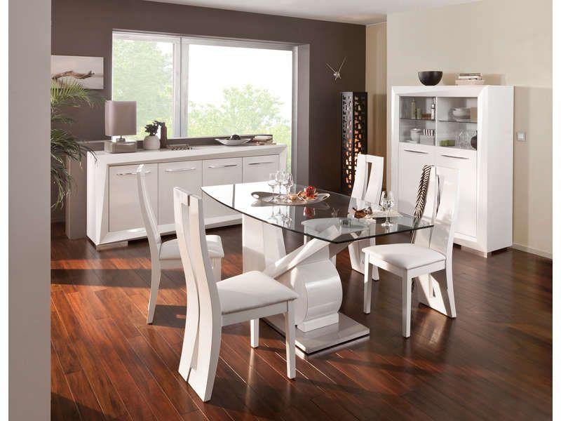 table rectangulaire brook coloris blanc