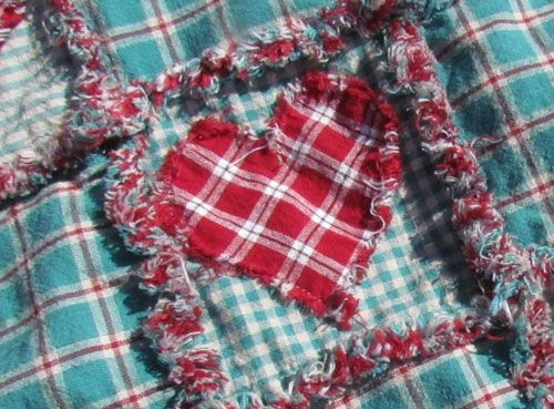 Rag Quilt Instructions - chart for using 10