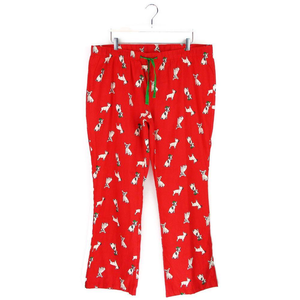 Old Navy XL Christmas French Bulldog Pajama Pants Flannel Womens ...