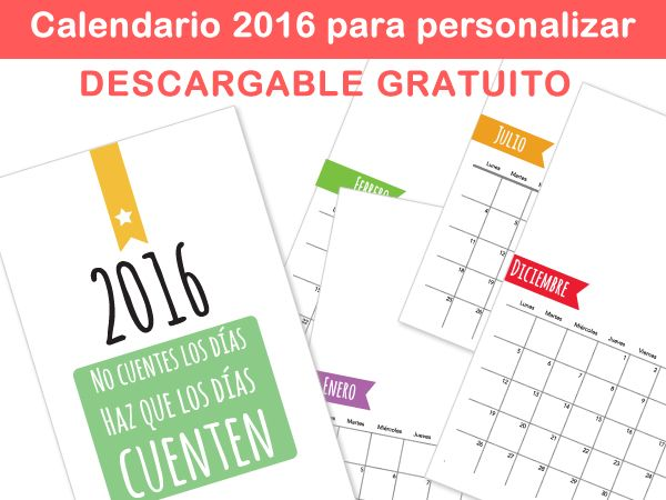 formatos de calendarios mensuales