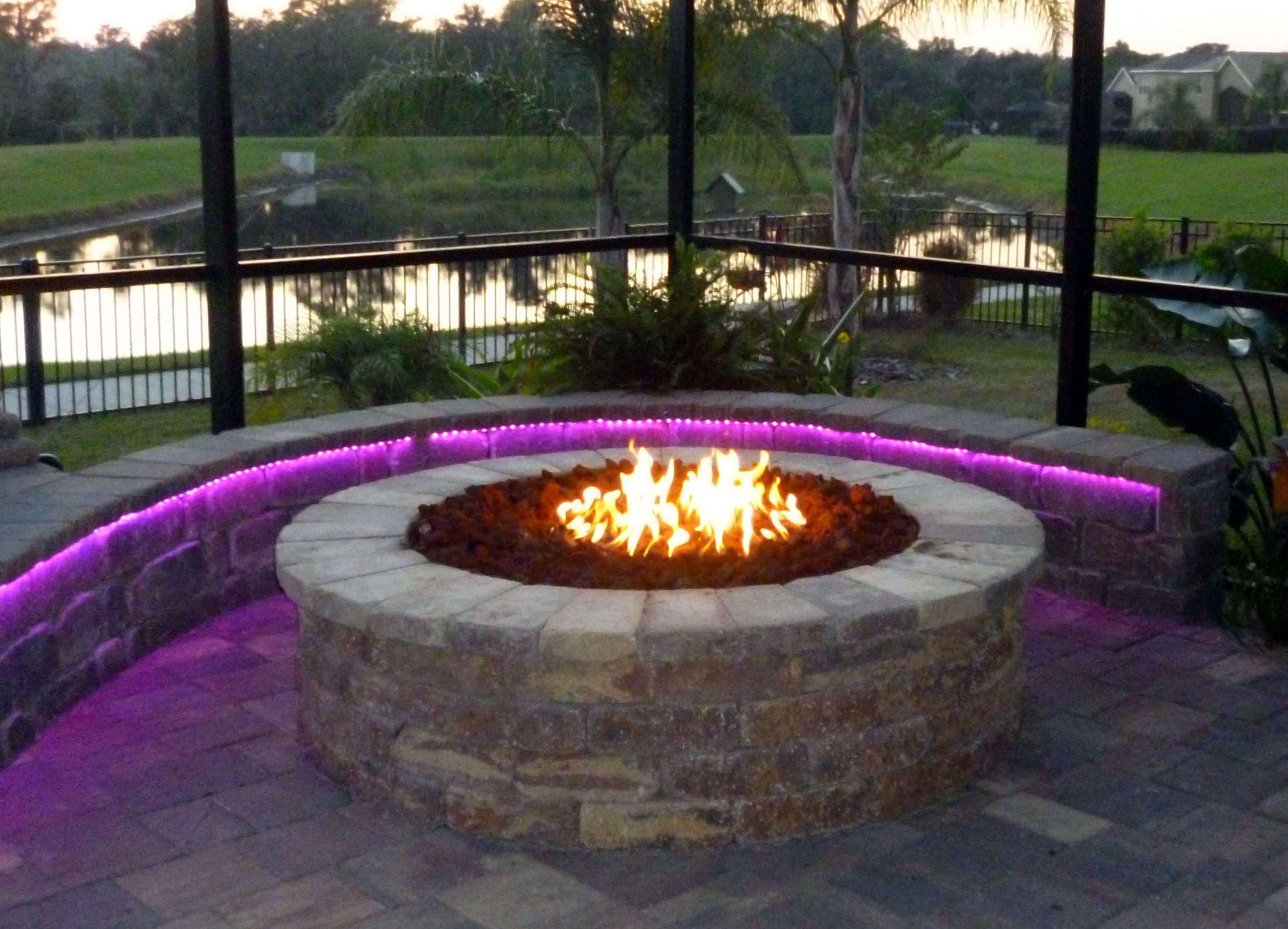 Firepit Led Lights Fire pit backyard, Fire pit