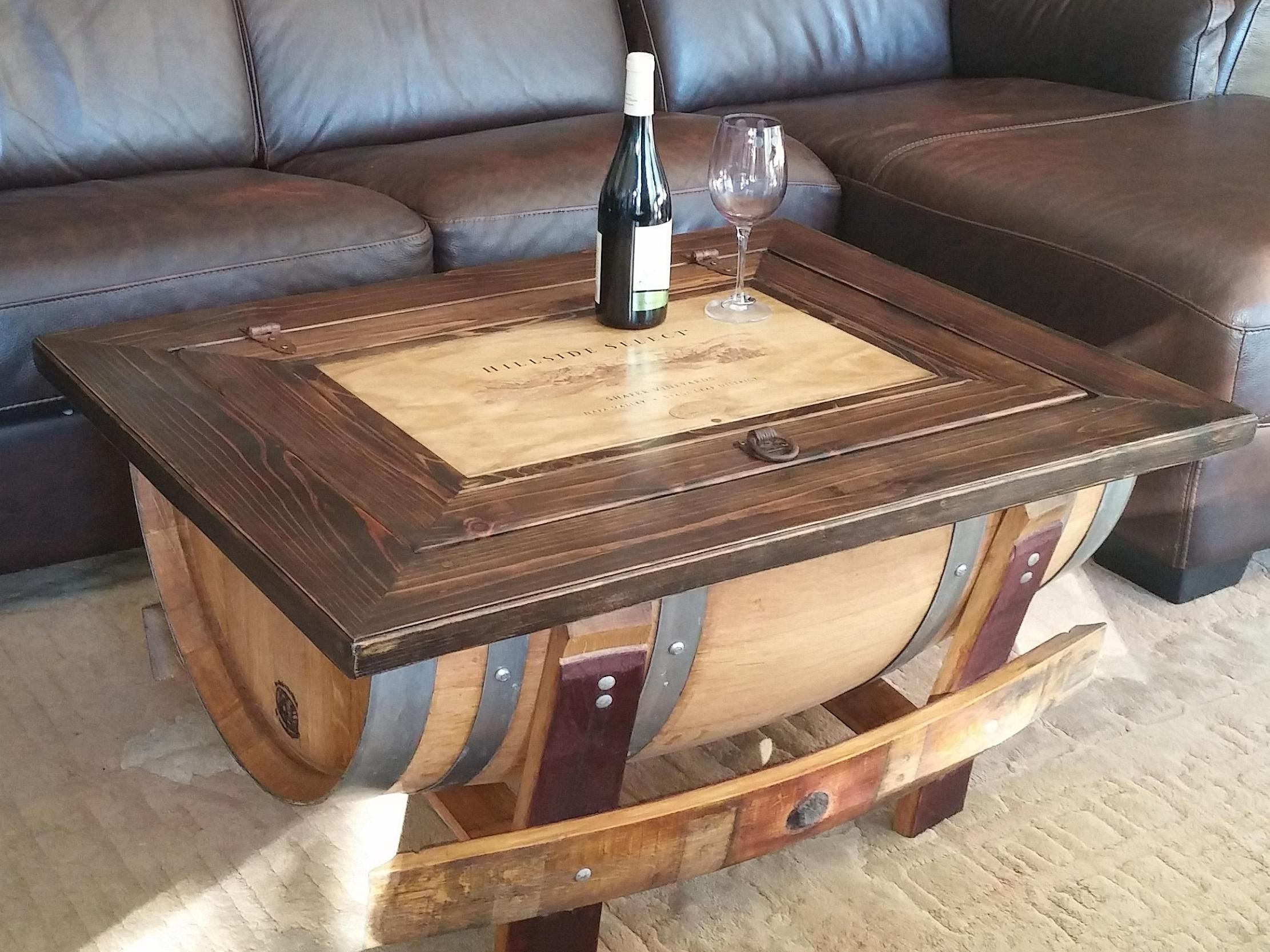 Pin By Chassandra On Home Design Barrel Coffee Table Wine Barrel