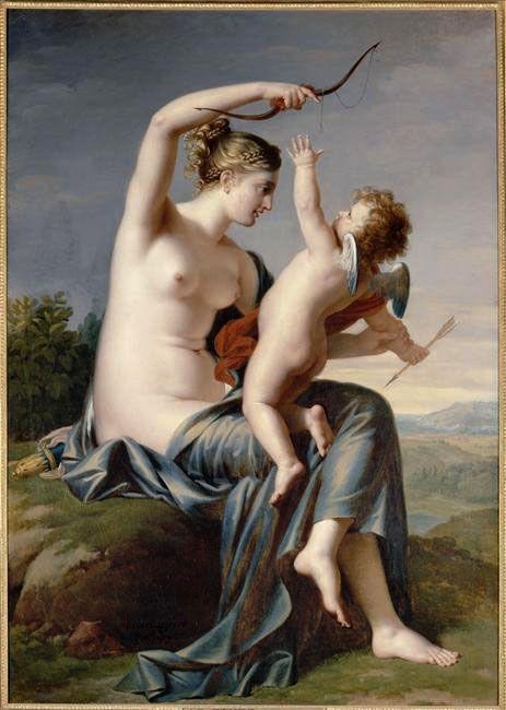 Amour désarmé par Vénus, Robert Lefèvre, Château de Fontainebleau