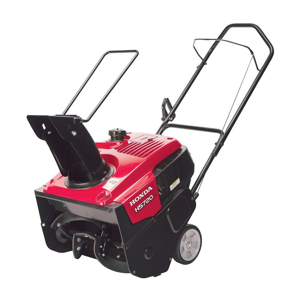 Honda Hs720am 20 In Single Stage Gas Snow Blower Hs720am The Home Depot Gas Snow Blower Snow Blower Snow Blowers