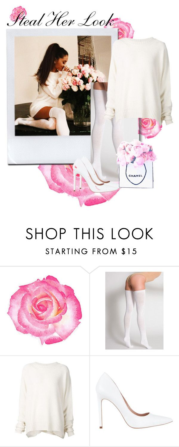 """Ariana Grande"" by lxtifa on Polyvore featuring American Apparel, URBAN ZEN, Diavolina and Chanel"