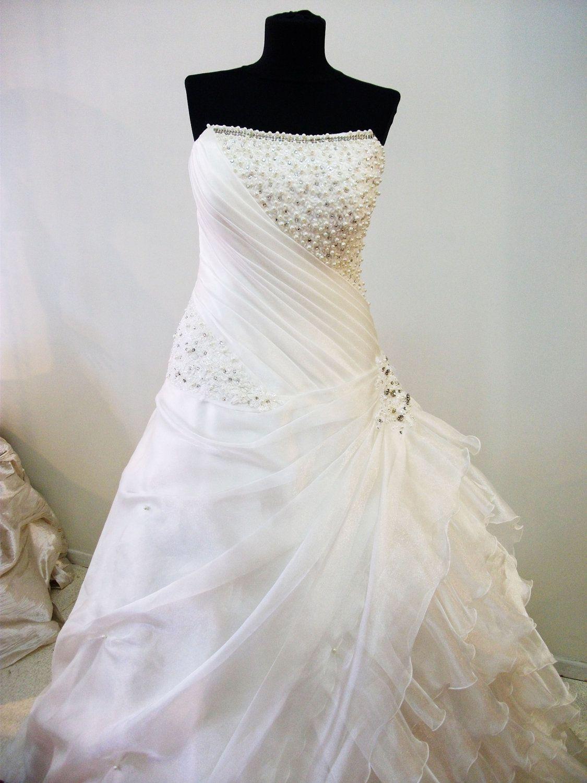 2013 Custom Made , Plus size Strapless Wedding Dress