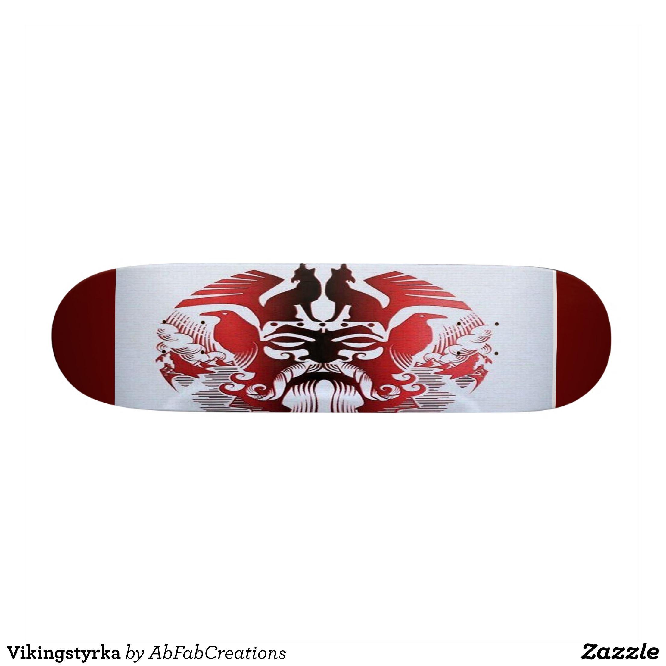 Vikingstyrka Skateboard - Supreme Hard-Rock Maple Deck Custom Boards By Talented Fashion & Graphic Designers - #skating #skater #skateboarding #shopping #bargain #sale #stylish #cool #graphicdesign #trendy #design #designer #graphicdesigner #style