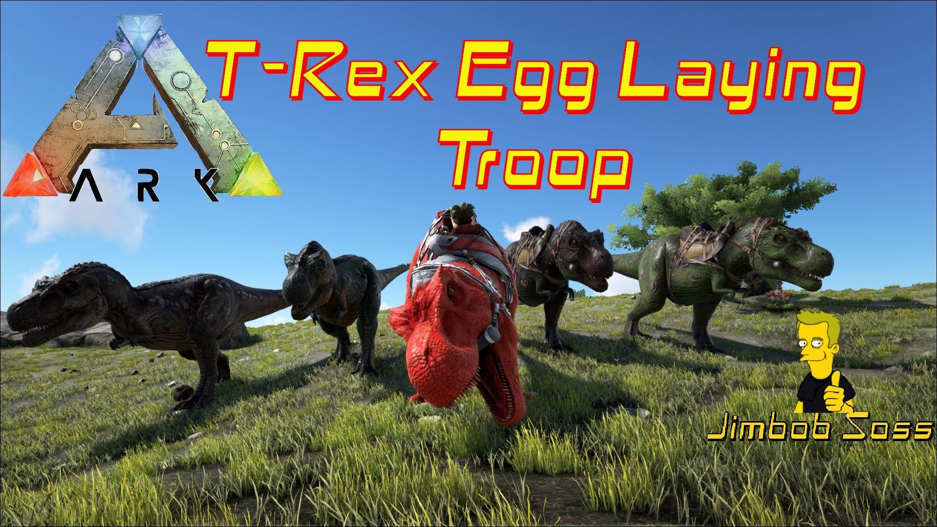 Ark Survival Evolved T Rex Tame For Egg Farm Ark Survival Evolved Survival Farm Eggs