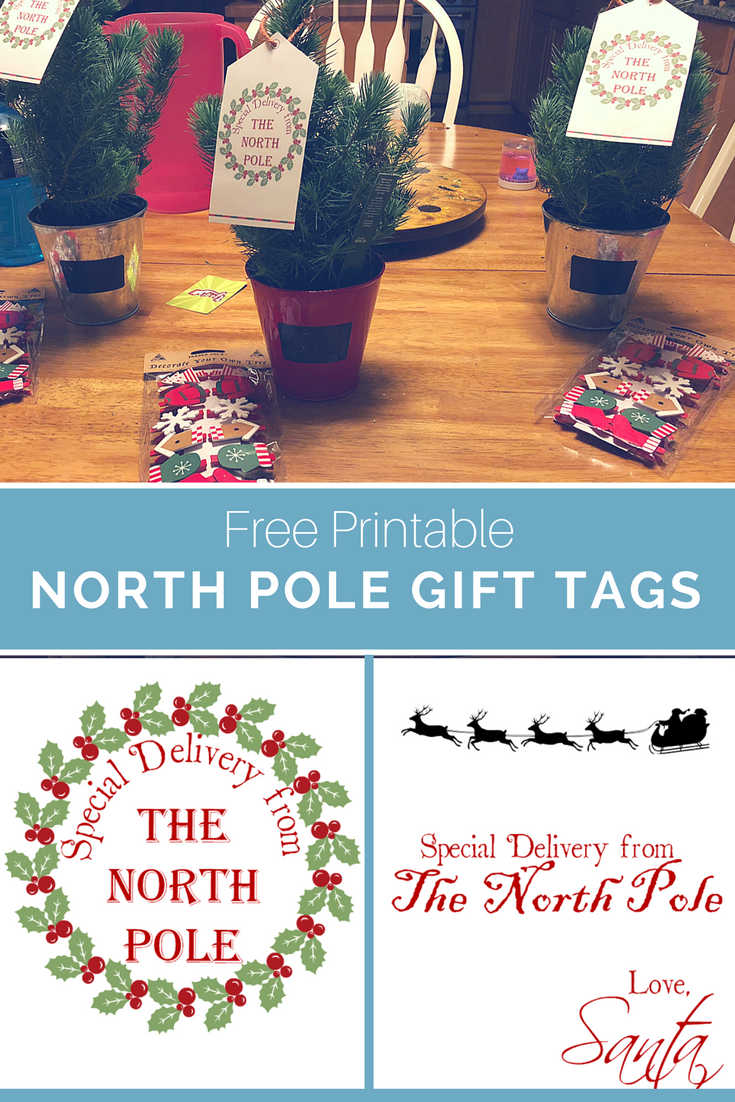 picture regarding Free Printable North Pole Special Delivery Printable identified as Absolutely free Printable North Pole Reward Tags !!!ALL Components