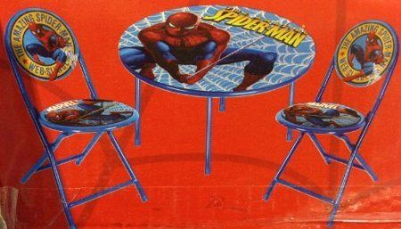 51% Off was $79.99, now is $38.98! The Amazing Spider-Man Spiderman 3-Piece Folding Table & Chair Set