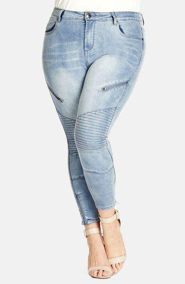 Plus Size Women's City Chic 'Ankle Grazer' Skinny Jeans, Size 14W ...