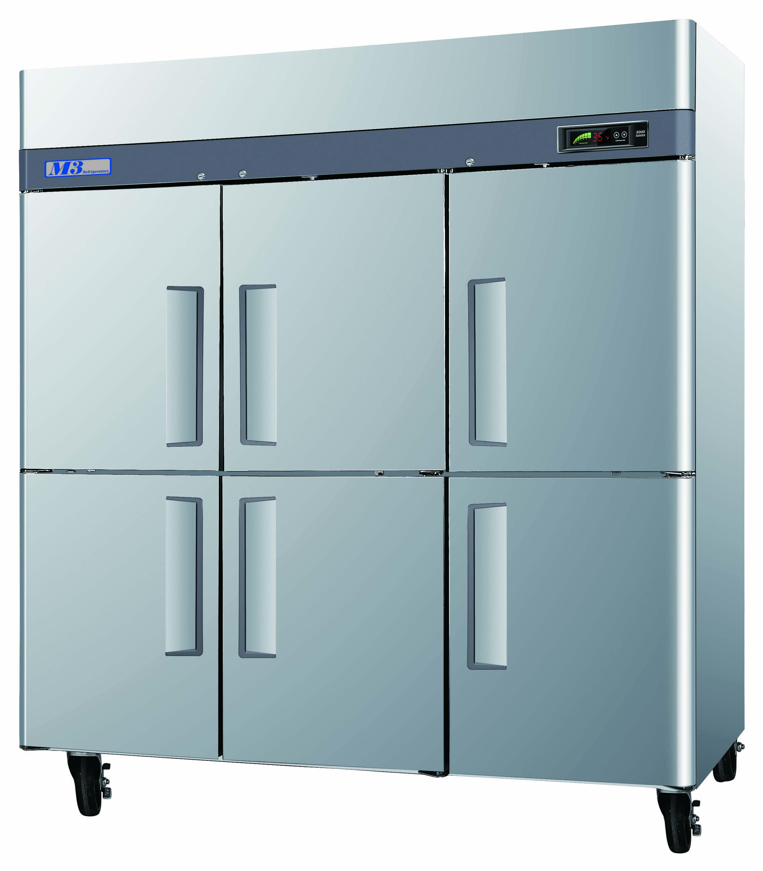 72 Cu Ft 6 Doors Available For Freezer And Refrigeration 72 Pies Cubicos 6 Puertas Disponible En Congelacion Half Doors Wire Shelving Locker Storage