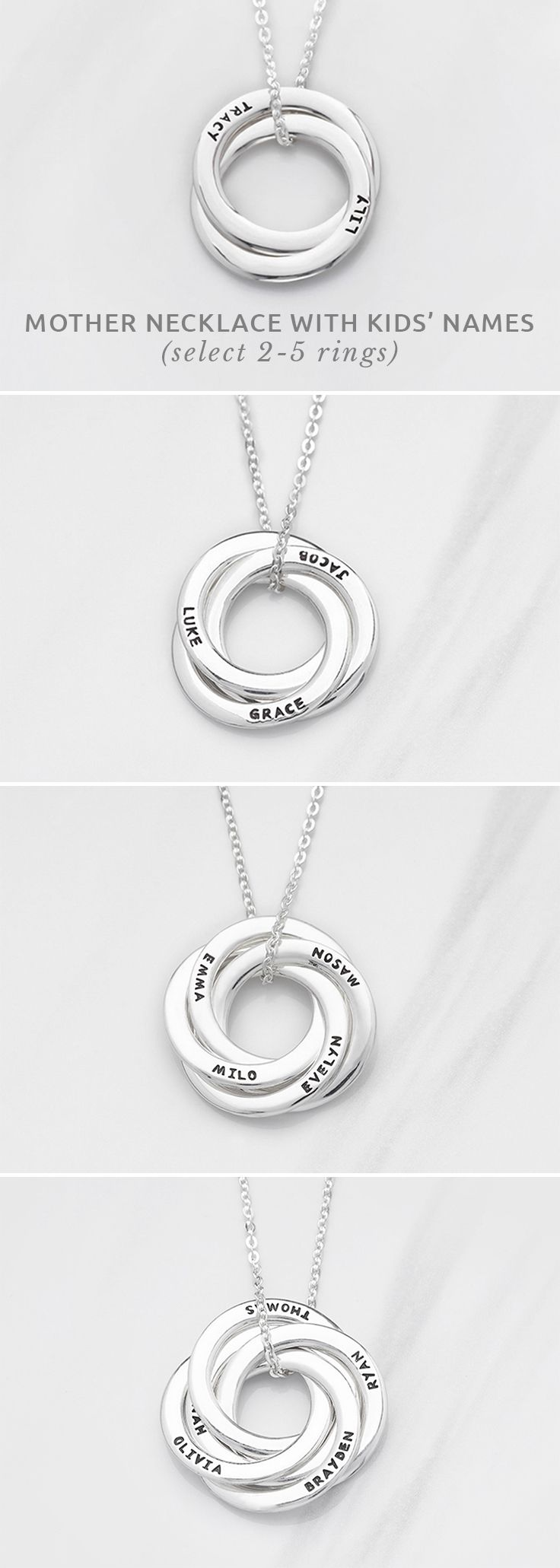 Mother Child Rhinestone Circle Necklace Mom New Birth Mothers Day Gift S