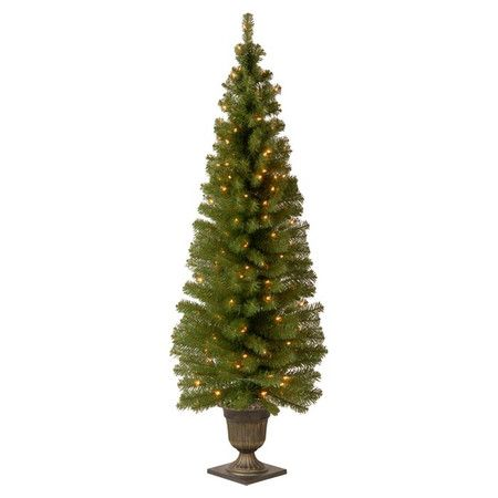 Craft a stunning vignette every holiday season with this classic faux spruce tree, perfect for decking with ribbons, lights, and your family's heirloom ornam...
