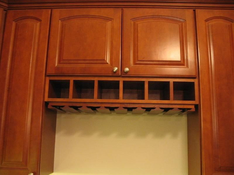 Kitchen Under Cabinet Wine Rack Maple Cabinets By Thomasville