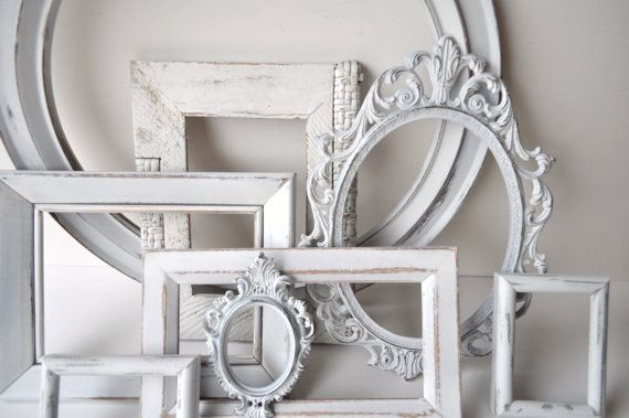 Custom 7 Pc Set - Distressed Picture Frames - Gallery Wall, Shabby ...