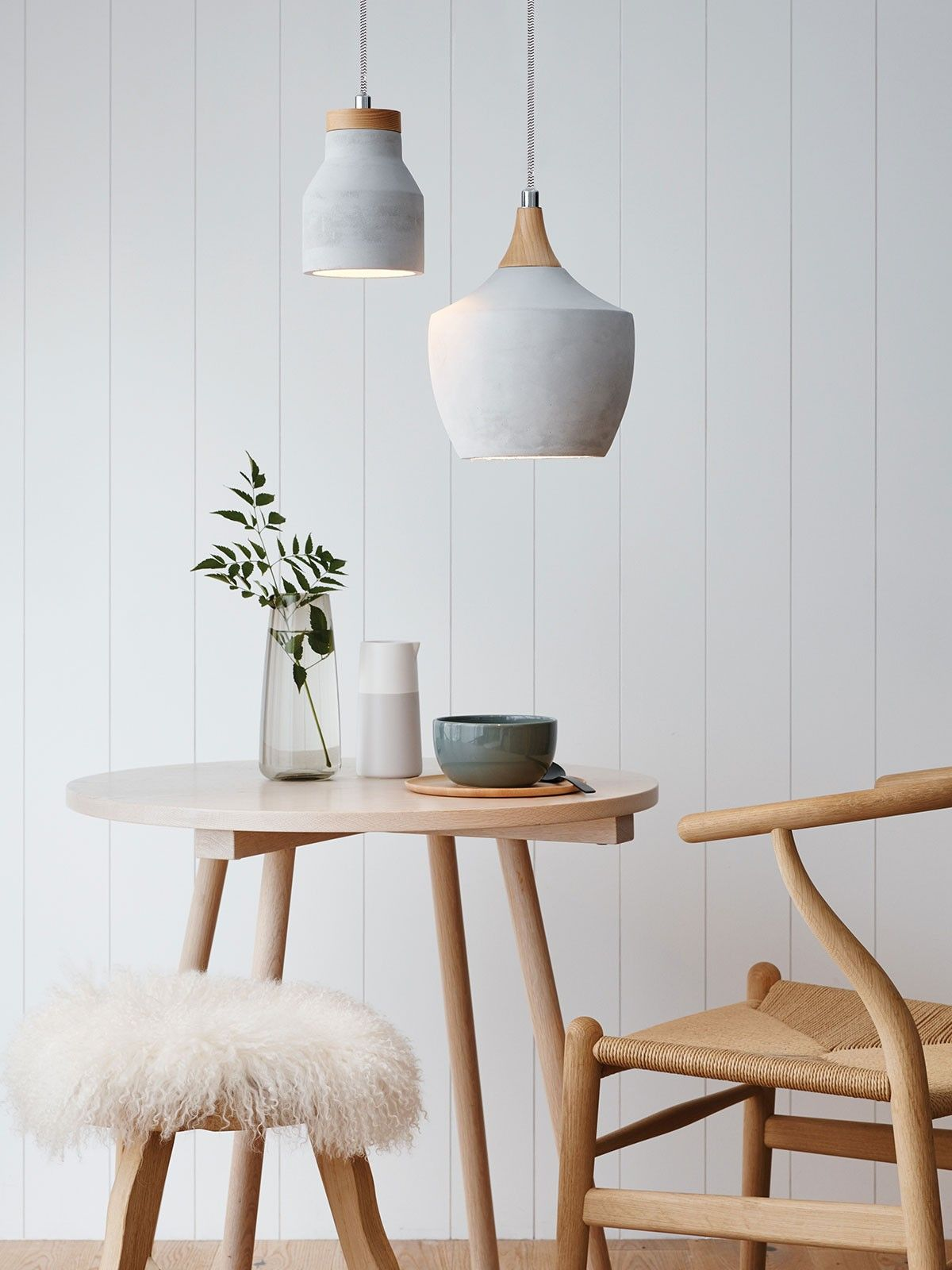 14 Rooms Flawlessly Incorporating Spring's Concrete Trend Concretependant Light768x1024