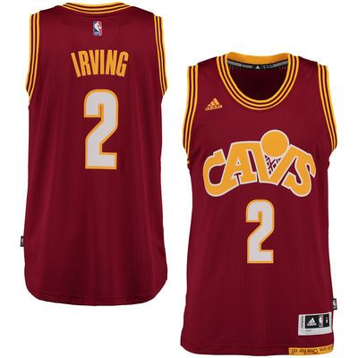 a12943fe Men's Cleveland Cavaliers Kyrie Irving adidas Wine Alternate Swingman  climacool Jersey
