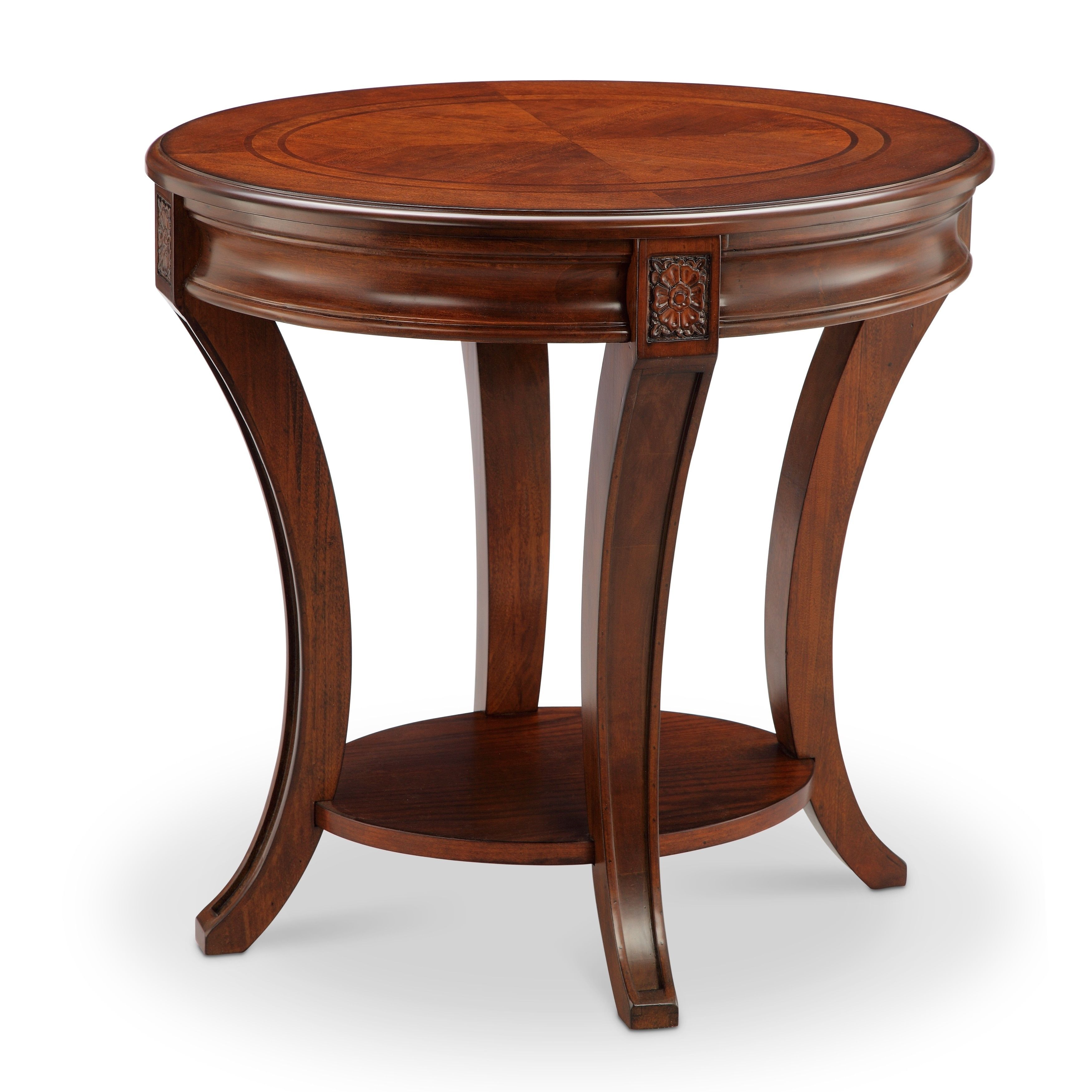 Best Winslet Traditional Cherry Oval End Table Oval End Table 400 x 300