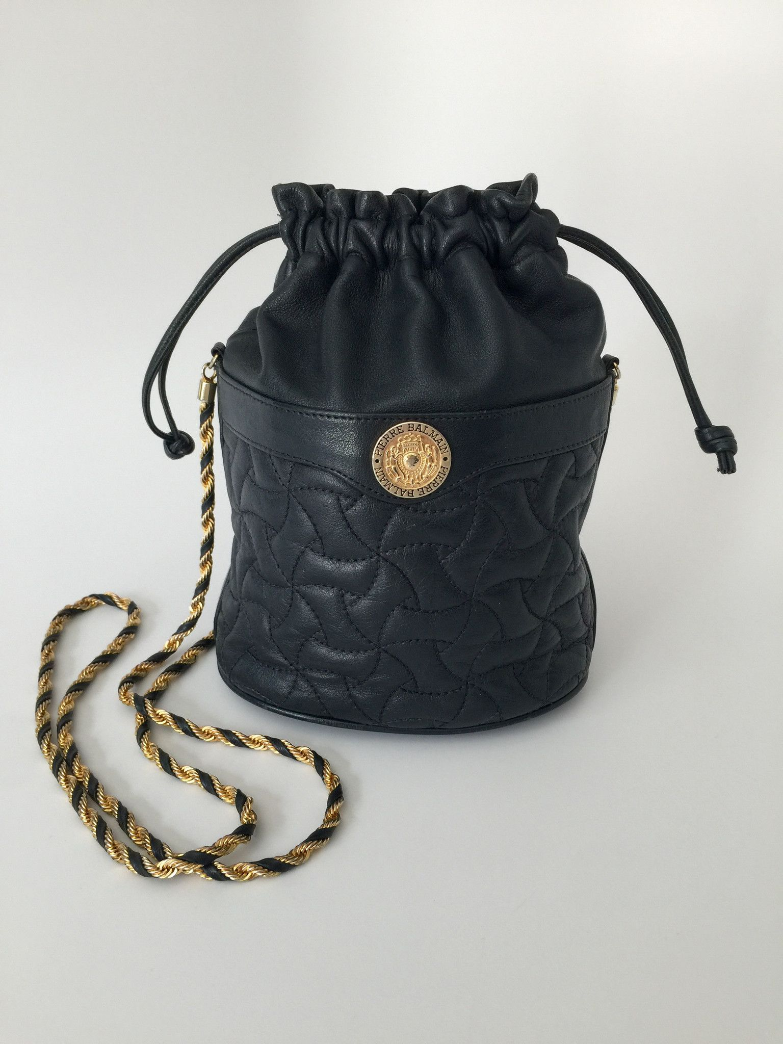 studded quilted shoulder bag - Black Balmain