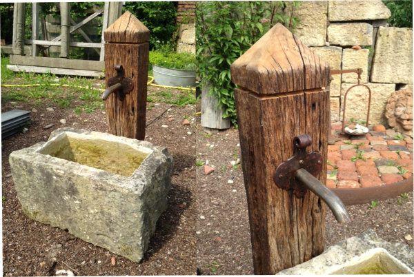 Brunnenaus Holz Google Suche Wasserhahn Garten Wasser Im Garten Garten