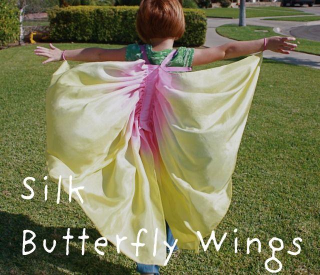 Silk butterfly wings