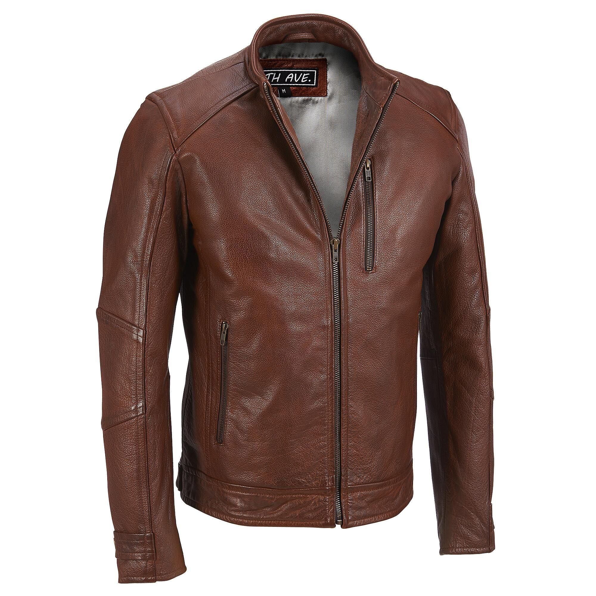Milwaukee Leather Leather Moto Jacket w/ MockNeck Collar