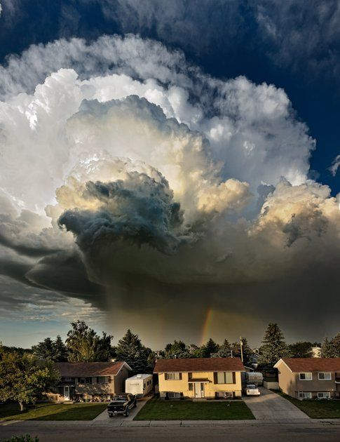 Taber, Canada-- storm clouds threatening to become a tornado