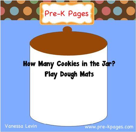 Free counting cookies printable play dough mats via www.preschoolspot... #preschool