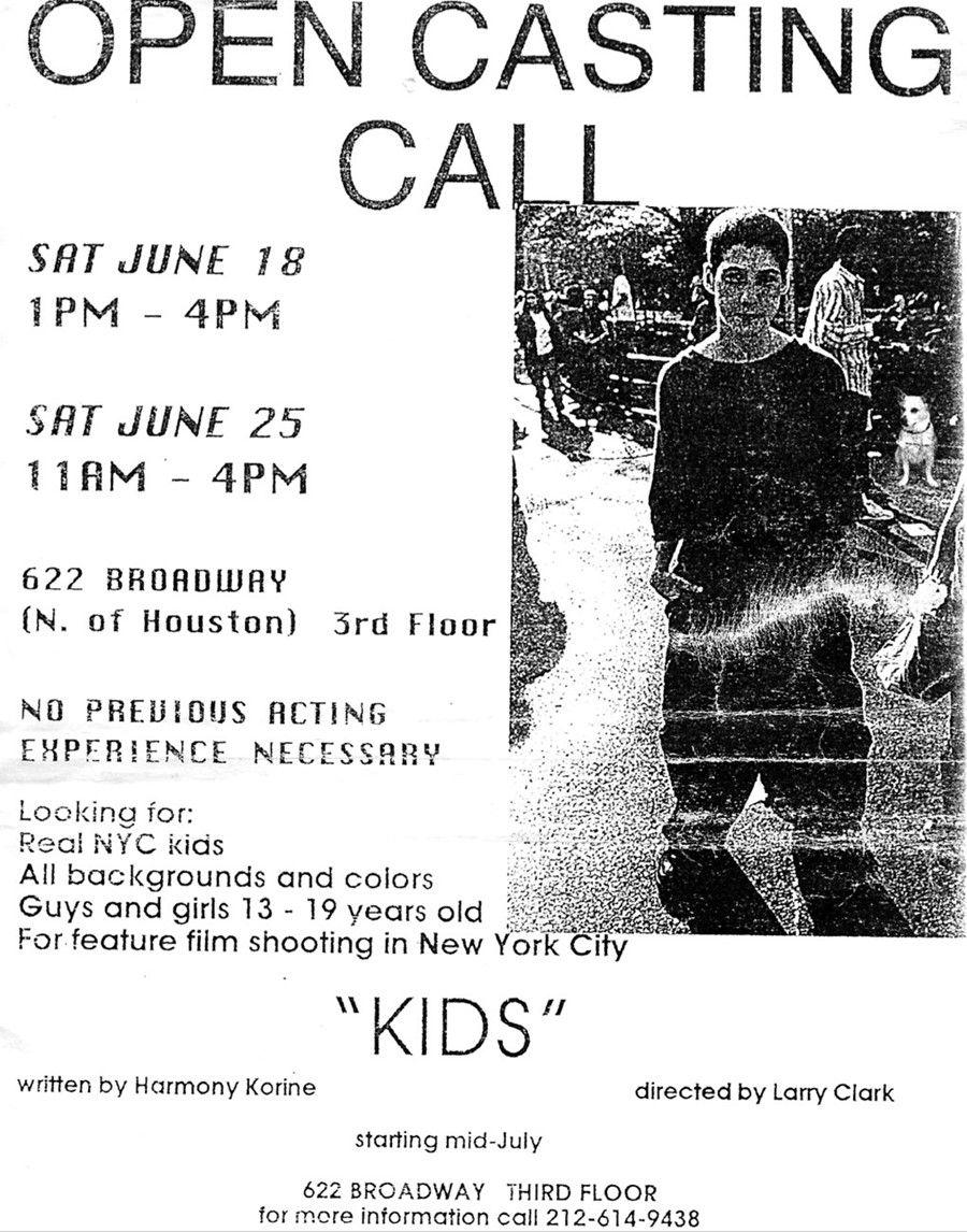 Larry Clark S Kids Polaroids Larry Clark It Cast Casting Call