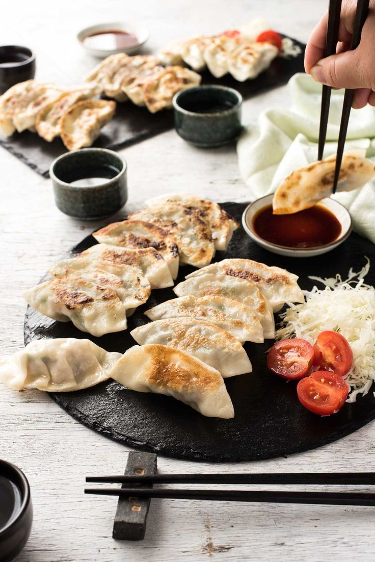 Japanese GYOZA (Dumplings) is part of Japanese dumplings -  potstickers, including a video showing how to wrap them