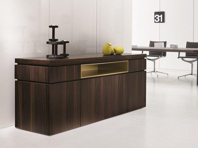 Madia / mobile ufficio in legno   Credenza legno, Credenza ...