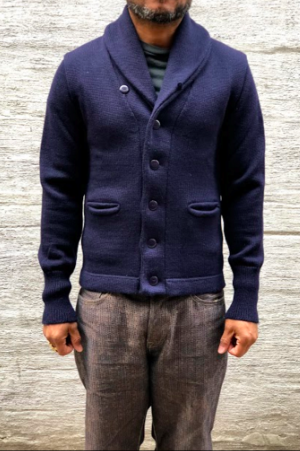 651d56d06fa5 North Sea Clothing Expedition Cardigan Navy | Things to Wear | Men ...