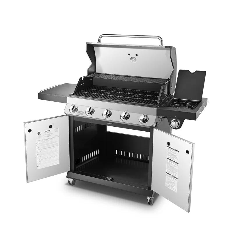 Dyna Glo Premier 5 Burner Convertible Gas Grill With Side Burner Gas Grill Grilling Natural Gas Grill