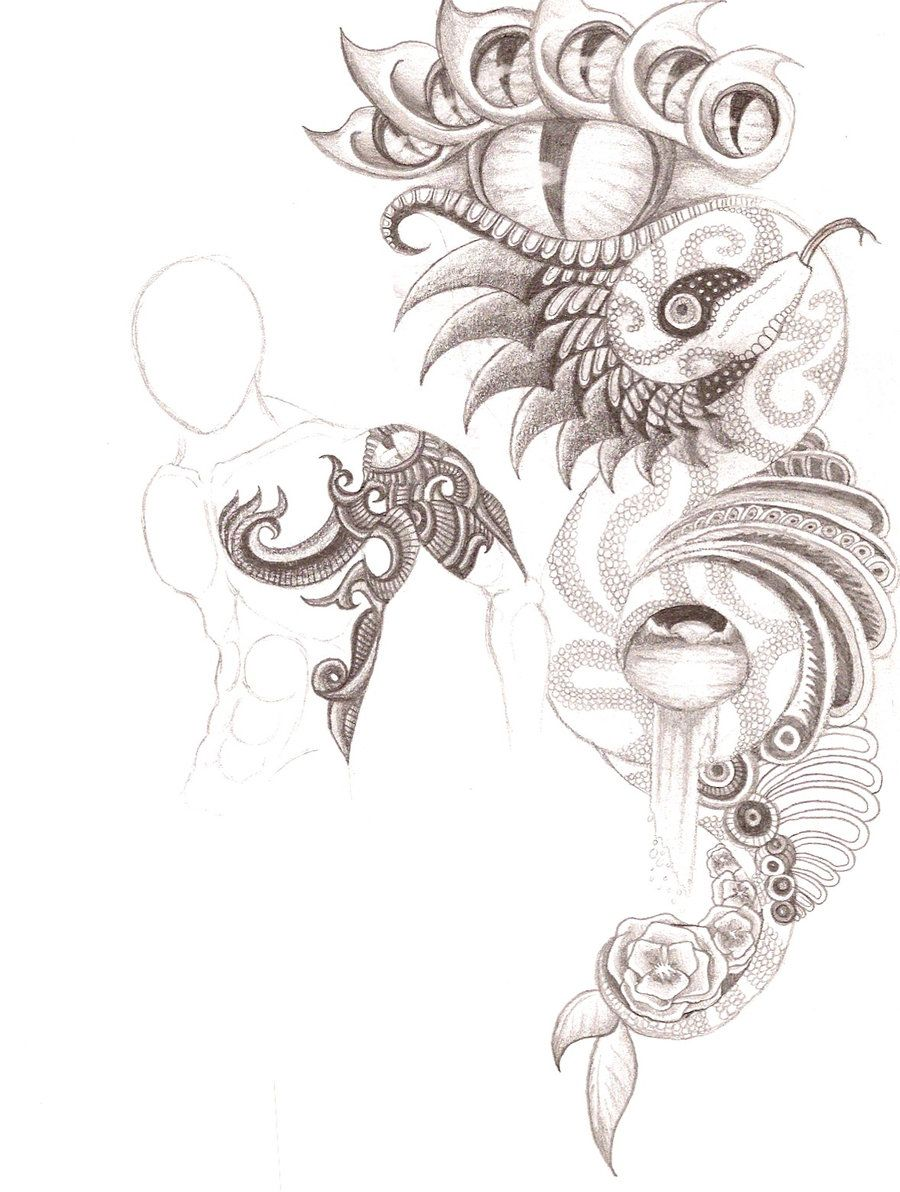 abstract tattoo design by patrickschappe art designs interfaces ...