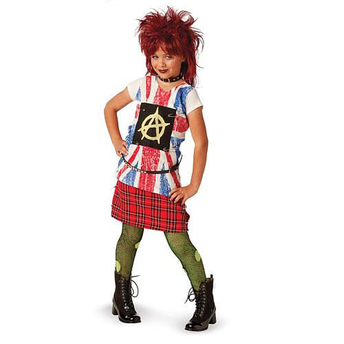 80s punk rock halloween costume child size large 14 16 - 80s Rocker Halloween Costume