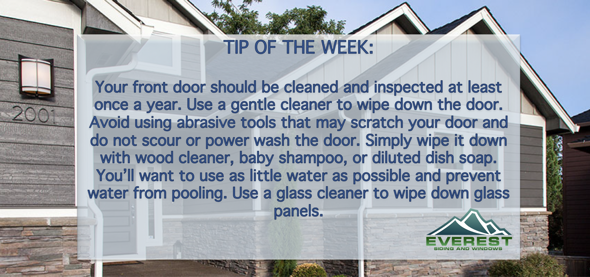 Useful Tip About Cleaning Your Front Door Houston Cypress Texas Hardieplank Lpsmartside Siding Windows Roof Front Door Roofing Lp Smart Siding