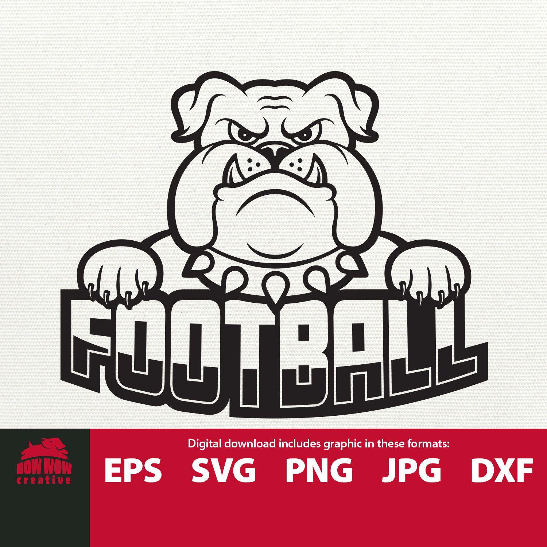 Bulldogs Football Bulldog Mascot Svg Football Bulldog Logo Etsy