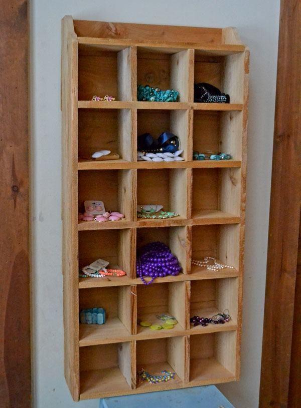 Barn Wood Shoe Storage
