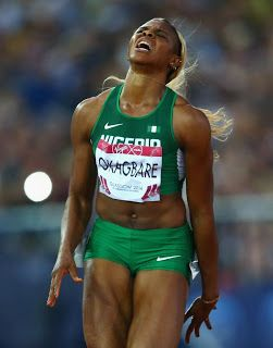 Nigerian Hope. Blessing Okagbare Crashes Out Of 2016 Rio Olympics 200m Final Game.